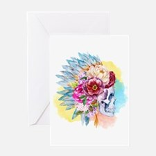Skull Headdress Greeting Card