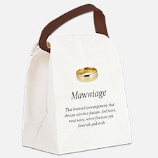 Cute Chris Canvas Lunch Bag