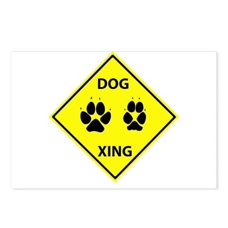 Dog Crossing Postcards (Package of 8)