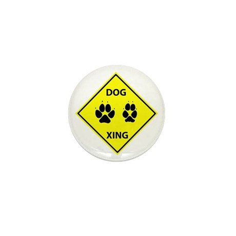 Dog Crossing Mini Button (10 pack)