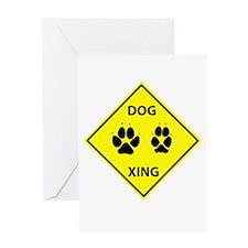 Dog Crossing Greeting Card