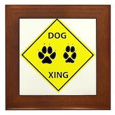 Dog Crossing Framed Tile