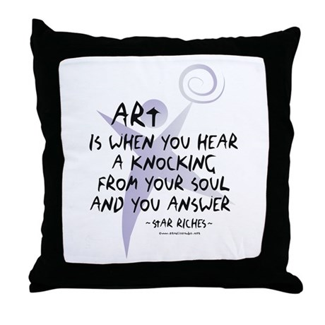 Art and Soul Throw Pillow