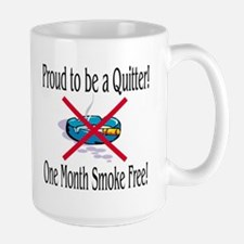 Proud Quitter (One Month) Large Mug