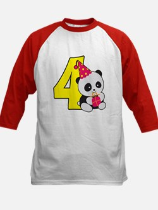 Cute Panda 4th Birthday Tee