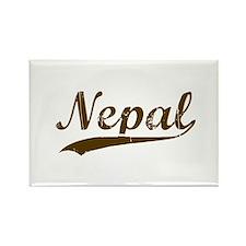 Vintage Nepal Retro Nepali Rectangle Magnet
