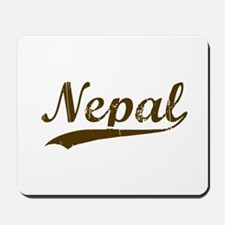 Vintage Nepal Retro Nepali Mousepad