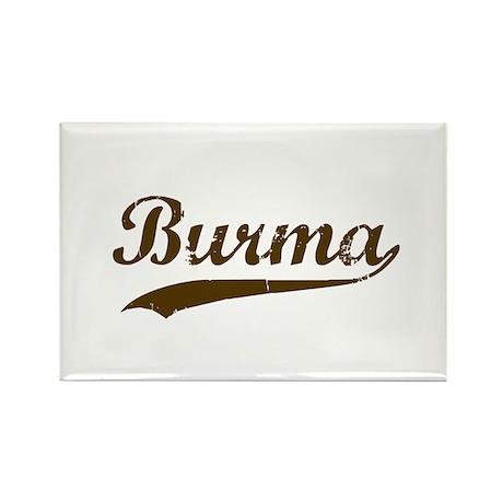 Vintage Burma Retro Burmese Rectangle Magnet