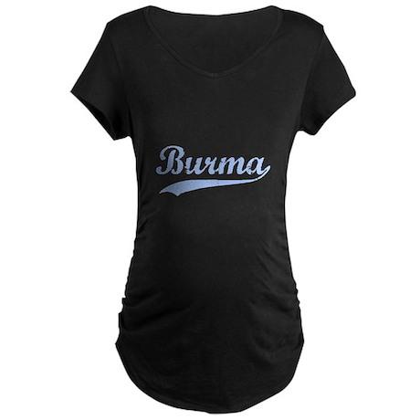 Vintage Burma Retro Burmese Maternity Dark T-Shirt