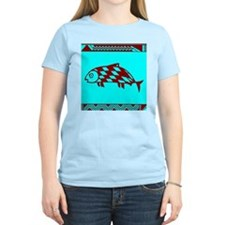 MIBRES FISH RED ON BLUE T-Shirt