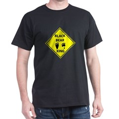 Black Bear Tracks Crossing T-Shirt