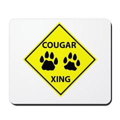Cougar Mountain Lion Crossing Mousepad