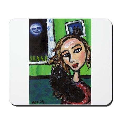 SCHIPPERKE w fav lady Mousepad
