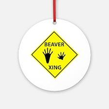 Beaver Crossing Ornament (Round)