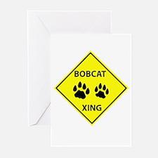Bobcat Crossing Greeting Cards (Pk of 10)