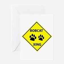 Bobcat Crossing Greeting Card