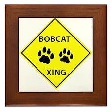 Bobcat Crossing Framed Tile