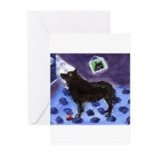 SCHIPPERKE cs moon design 1 Greeting Cards (Packag