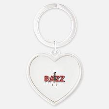 Razz Heart Keychain