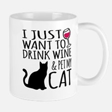 Drink Wine and Pet My Cat Mugs
