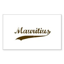 Vintage Mauritius Retro Rectangle Decal