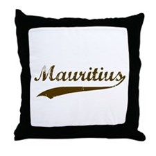 Vintage Mauritius Retro Throw Pillow