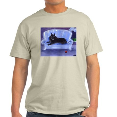 SCHIPPERKE blue sofa Design Ash Grey T-Shirt