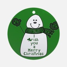 IRISH You A Merry Chrismas Snowman Ornament