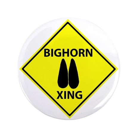 """Bighorn Crossing 3.5"""" Button (100 pack)"""