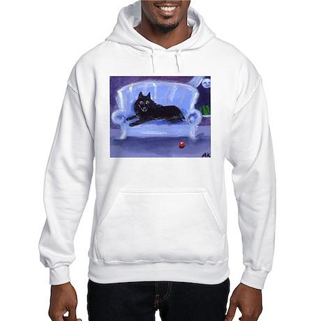 SCHIPPERKE blue sofa Design Hooded Sweatshirt