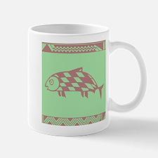 MIBRES FISH PINK ON GREEN Mug