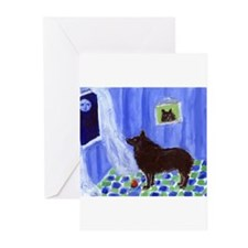 SCHIPPERKE cs moon 1 Greeting Cards (Pk of 10)