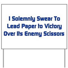Rock Paper Scissors Yard Sign