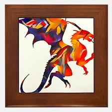 Fire Dragon Framed Tile