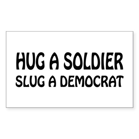 Funny Anti-Democrat T-shirts Rectangle Sticker