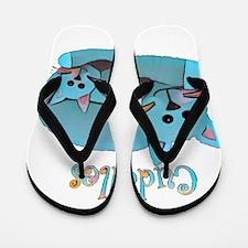 Cat Cuddles Flip Flops