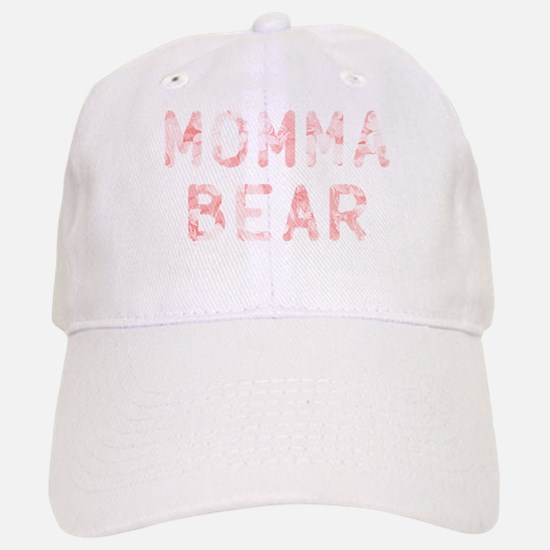 Momma Bear Pink Baseball Baseball Cap
