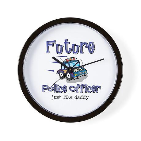 Future Policeman just like Dad Wall Clock