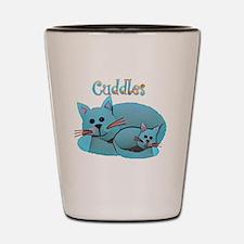 Cat Cuddles Shot Glass