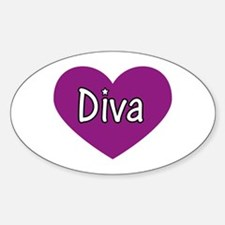 Diva Oval Decal