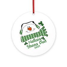 Happy IRISH Christmas Nollaig Shona Duit Ornament
