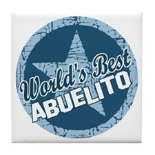 World's Best Abuelito Tile Coaster