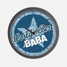 Worlds Best Baba Wall Clock
