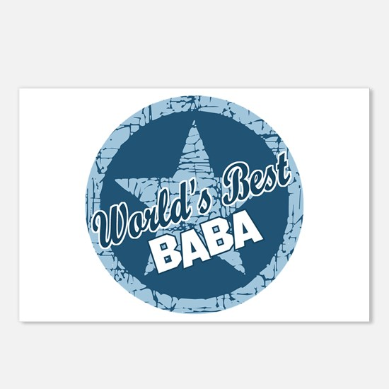 Worlds Best Baba Postcards (Package of 8)