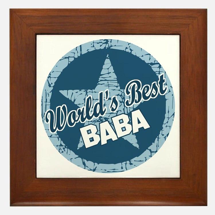 Worlds Best Baba Framed Tile