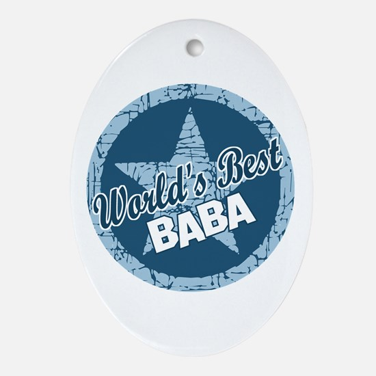 Worlds Best Baba Oval Ornament