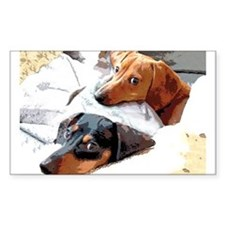 Naptime Doxies Rectangle Decal