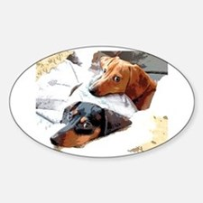 Naptime Doxies Oval Decal