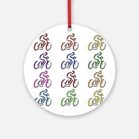 Rainbow Cyclists Ornament (Round)