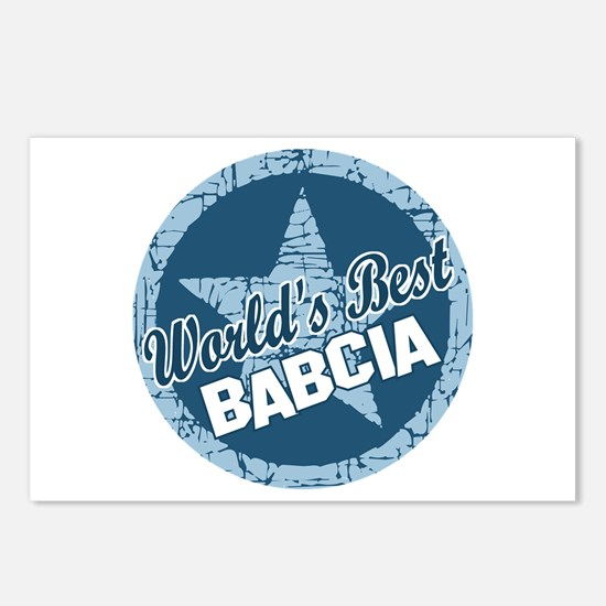 Worlds Best Babcia Postcards (Package of 8)